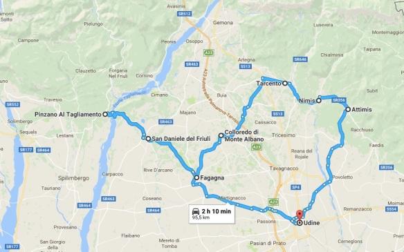 itinerario Udine